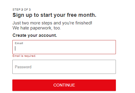 Start your free Netflix trial