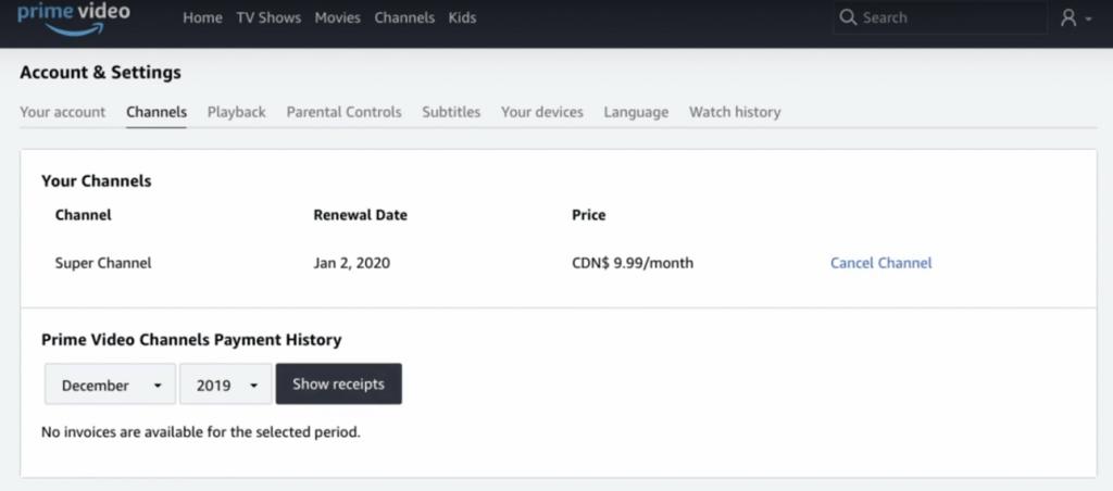 Prime Channel Cancelation Proccess