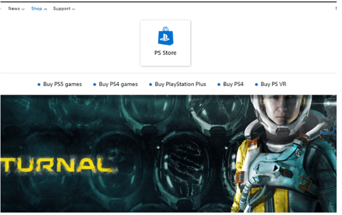 Click On PS Store