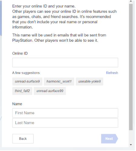Create An Account On PlayStation